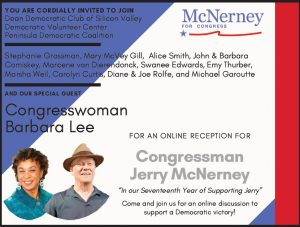 Online Reception for Congressman Jerry McNerney